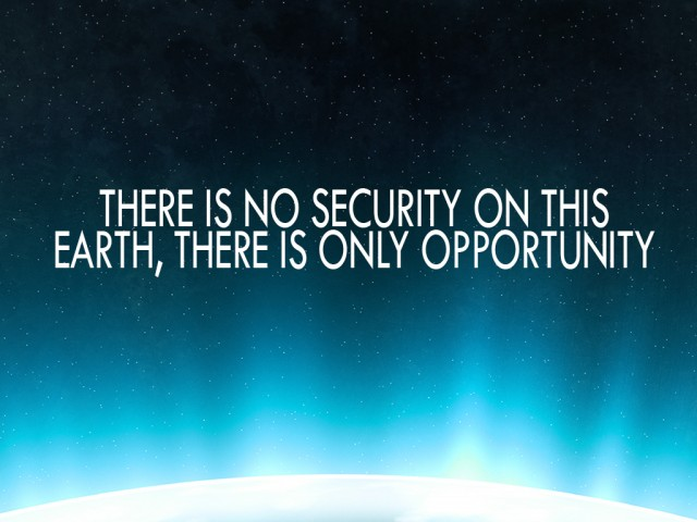There Is No Security