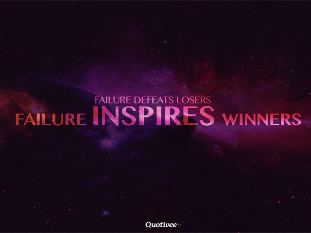 Failure Inspires Winners