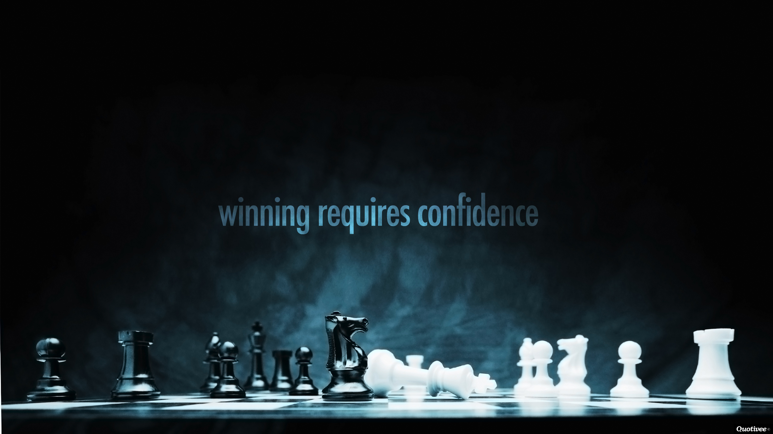 winning requires confidence - motivational quote wallpaper | quotivee